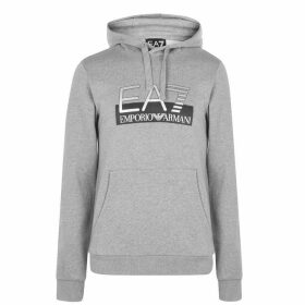 EA7 Visible Logo Over The Head Hoody - Grey