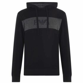 EMPORIO ARMANI Eagle Chest Over The Head Hoody - Navy 00135