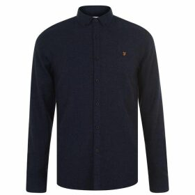 Farah Vintage Long Sleeve Kreo Shirt - Navy 412