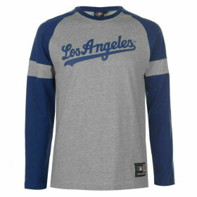 MLB Long Sleeve Raglan T Shirt - Grey