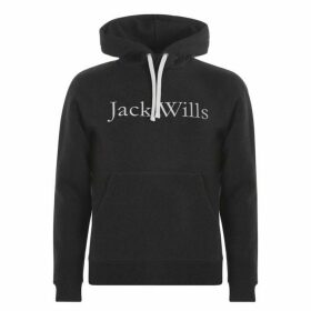 Jack Wills Batsford Heritage Popover Hoodie - Charcoal