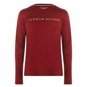Tommy Bodywear Sleeve Logo T Shirt - Rhubarb
