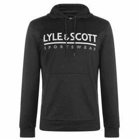 Lyle and Scott Cheviot Hood Sn84 - Black Marl
