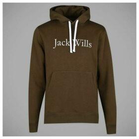 Jack Wills Batsford Heritage Popover Hoodie - Green