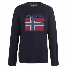 Napapijri Sadrin Long Sleeve T Shirt - Blue Marine