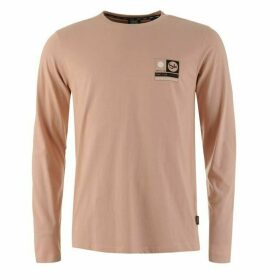 Fabric Long Sleeve Graphic T Shirt Mens - Dusty Pink