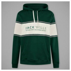 Jack Wills Howden Cut And Sew Hoodie - Green