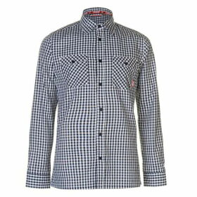 Zukie Gingham Shirt Mens - Navy