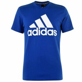 adidas Logo T Shirt Mens - Blue