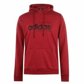 adidas Brilliant Basics Hoodie Mens - Red/Black