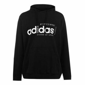 adidas Brilliant Basics Hoodie Mens - Black/White