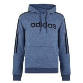 adidas 3 Stripes Logo Over The Head Hoody Mens - LtBlueMarl/Navy