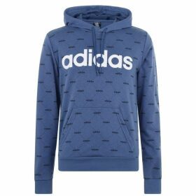 adidas All Over Printed Hoodie Mens - Blue/Wht/Blk