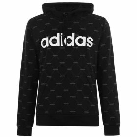 adidas All Over Printed Hoodie Mens - Blk/Wht/Grey