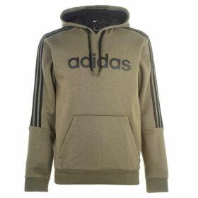 adidas 3 Stripes Logo Over The Head Hoody Mens - Khaki/Black