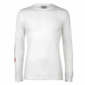 Airwalk Long Sleeve Logo T Shirt Mens - White