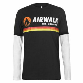 Airwalk Originals Layer T Shirt Mens - Black