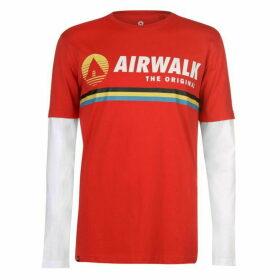Airwalk Originals Layer T Shirt Mens - Red