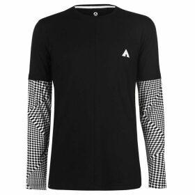 Airwalk Check Layer T Shirt Mens - Black
