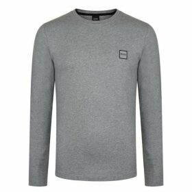 BOSS Tommi Uk Long Sleeve T Shirt - Grey 051 SMU