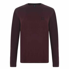 BOSS Tommi Uk Long Sleeve T Shirt - Burgundy 604