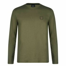 BOSS Tommi Uk Long Sleeve T Shirt - Khaki 025