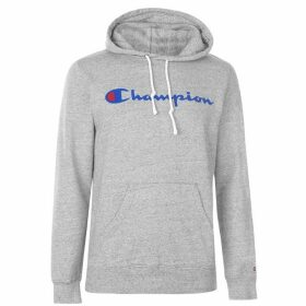 Champion Basic Logo Hoodie - Grey
