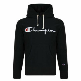 CHAMPION Logo Hooded Sweatshirt - Blue