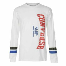 Converse College Long Sleeve T Shirt - White
