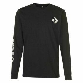 Converse Wordmark Long Sleeve T Shirt - Black
