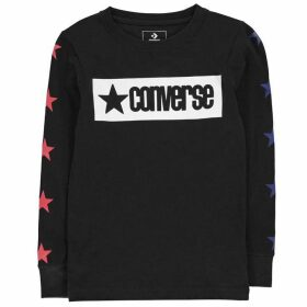 Converse Vintage Long Sleeve T Shirt - Black