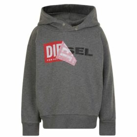 Diesel Salby Peel Hooded Logo Sweatshirt - Blue