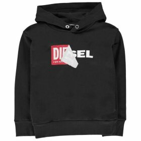 Diesel Salby Peel Hooded Logo Sweatshirt - Black