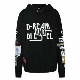 Diesel Sjackwa Hooded Sweatshirt - Black