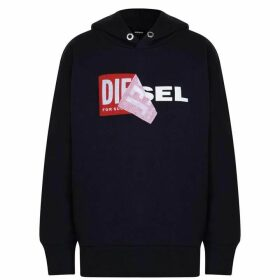 Diesel Salby Peel Hooded Logo Sweatshirt - Navy K860