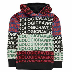 DIESEL All Over Print Hooded Sweatshirt - Black K900