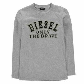 Diesel Tippi Long Sleeve T Shirt - Grey