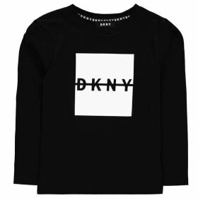DKNY Logo T Shirt - Black 09B