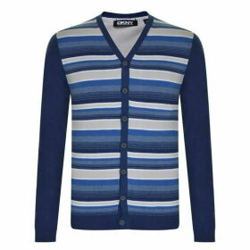 DKNY Stripe Cardigan - Blue