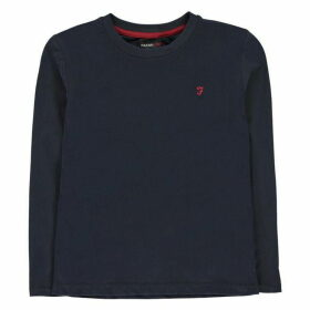 Farah Denny Long Sleeve T Shirt - Navy Blazer