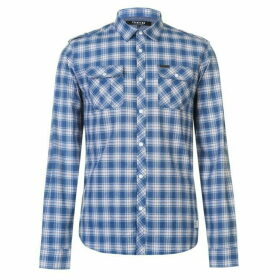 Firetrap Blackseal Blue Check Shirt - Blue