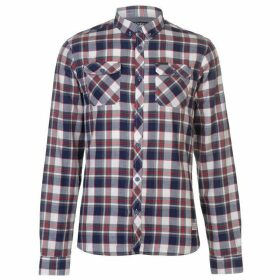 Firetrap Blackseal Herringbone Check Shirt - Red/White