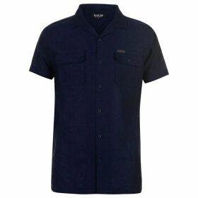 Firetrap Blackseal Resort Shirt - Black/Navy
