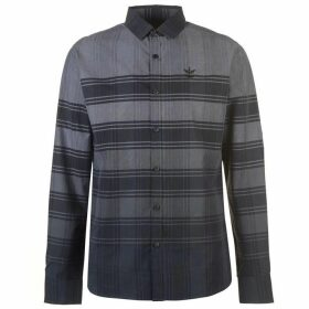 Firetrap Long Sleeve Check Shirt Mens - Black/White