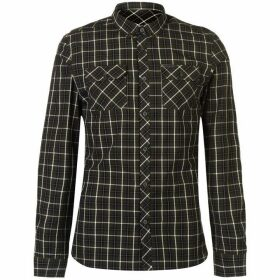 Firetrap Blackseal Long Sleeve Check Shirt - Khaki