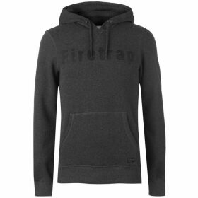 Firetrap Graphic OTH Hoodie - Charcoal Marl