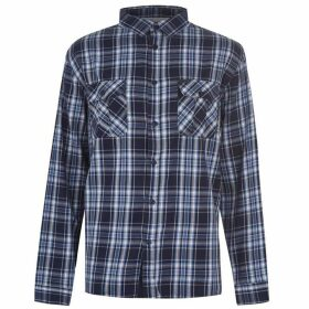 Firetrap Long Sleeve Twick Shirt - Navy/Blue