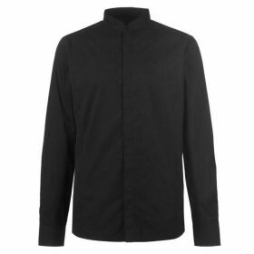 Firetrap Grandad Collar Shirt Shirt Mens - Black