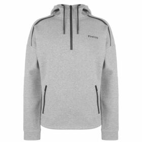 Firetrap Biker Over The Head Hoodie - Grey Marl