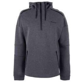 Firetrap Biker Over The Head Hoodie - Charcoal Marl